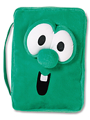 Veggie Larry Plush Bible Cover: Green, Medium