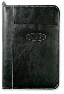 Bible Cover Leather-Look Ebony Large