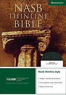 NASB Thinline Bible: Black, Bonded Leather