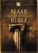NASB Compact Reference Bible: Burgundy, Bonded Leather Button Flap