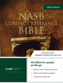 NASB Compact Reference Bible: Black, Bonded Leather, Button Flap