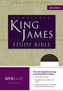 KJV Study Bible: Black, Bonded Leather, Thumb Indexed