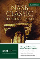NASB Classic Reference Bible: Black, Bonded Leather