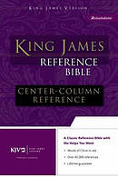 KJV Reference Bible: Black, Bonded Leather, Thumb Index