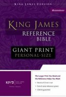 KJV Personal Size,  Giant Print Bible: Burgundy, Premium Leather Look,