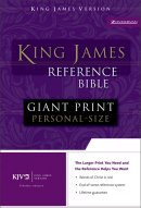 KJV Personal Size Reference Bible: Navy, Premium Leather Look, Giant Print