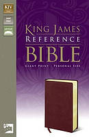 KJV Personal Size Bible: Burgundy, Bonded Leather, Giant Print