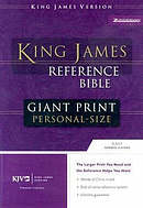 KJV Personal Size, Giant Print Bible: Navy, Bonded Leather