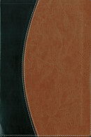 NASB Thinline Bible: Black/Tan, Imitation Leather