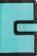 KJV Compact Reference Bible: Turquoise/Chocolate, Italian Duo Tone