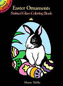 Easter Ornaments Stained Glass Colouring Book