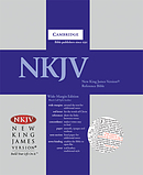 NKJV Wide Margin Reference Bible: Blue, Hardback