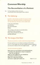 Common Worship; Reconciliation of a Penitent