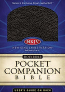 NKJV Pocket Companion Bible: Black, Leathersoft