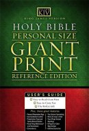 KJV Personal Size, Giant Print Bible: Black, Imitation Leather,