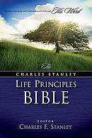 NKJV Life Principles Bible: Black, Bonded Leather, Thumb Index