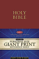 NKJV Personal Size Reference Bible: Burgundy,  Imitation Leather, Giant Print