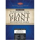 NKJV Personal Size Reference Bible: Black, Imitation Leather, Giant Print