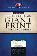 NKJV Reference Bible: Black,  Bonded Leather, Thumb Index, Giant Print
