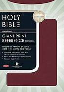 NKJV Giant Print Centre Column Reference Bible Bonded Leather Burgundy
