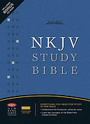 NKJV Study Bible: Black,  Bonded Leather, Thumb Index