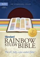 NIV Standard Rainbow Study Bible Imitation Leather Brown and Chestnut