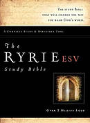 ESV Ryrie Study Bible: Black, Red Letter, Thumb Index, Bonded Leather