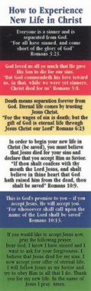 Bookmark-Plan Of Salvation (How To Experience) (Romans KJV) (Pack Of 25)