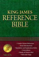 KJV Reference Bible: Navy Blue,  Bonded Leather