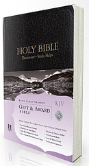 KJV Gift and Award Bible: Black, Imitation Leather