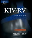 KJV/RV Interlinear Bible: Black, Calfskin