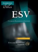 ESV Clarion Reference Bible Split-Calfskin Leather Black