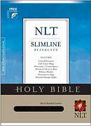 NLT Slimline Reference Bible: Black, Bonded Leather