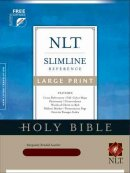 NLT Slimline Bible: Burgundy Bonded Leather, Large Print