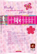 NLT Girls Life Application Study Bible: Hot Pink, Leatherlike
