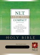 NLT Large Print, Compact Bible: Black, Bonded Leather