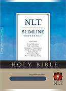 NLT Slimline Reference Bible: Navy, Bonded Leather