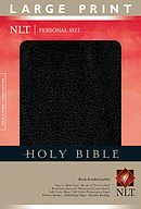 NLT Personal Size Large Print Bible: Black, Bonded Leather