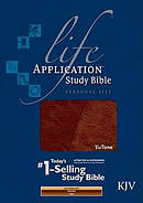 KJV Life Application Study Bible Brown Personal Size Imitation Leather