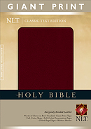 NLT Giant Print Bible: Burgundy, Bonded Leather