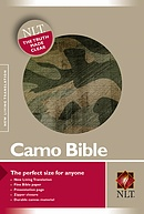 NLT Compact Camouflage Bible: Green, Canvas, with Zip