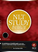NLT Study Bible: Black, Bonded Leather