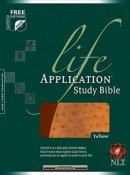NLT Life Application Study Bible: Brown & Ostrich, Imitation Leather, Thumb Index