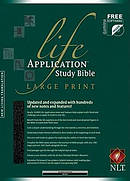 NLT Life Application Study Bible: Black, Bonded Leather, Large Print, Thumb Indexed
