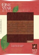 NLT One Year Slimline Bible: Tutone Brown Tan