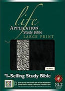 NLT Life Application Study Bible Large Print Duotone  Imitation Leather Ivory