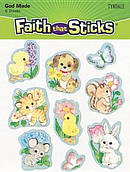 Animals And Flowers Stickers