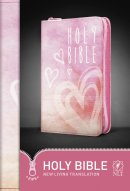 NLT Pink Hearts Zip Bible