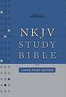 NKJV Study Bible: Black, Bonded Leather, Large Print