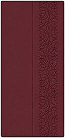 NKJV Checkbook Bible: Burgundy, Leathersoft